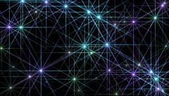 4k Flare stars,starlight stage sky universe,flash disco fireworks ray sparkle. Stock Footage