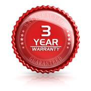 3 Year Warranty Stock Illustration