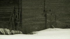 A cowshed, Lycksele, Sweden. Stock Footage