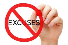 Excuses Prohibition Sign Concept Stock Photos
