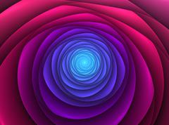 Abstract fractal blossom - stock illustration