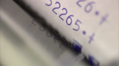Cash receipt, close-up. Stock Footage