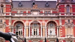 Front of Stadsschouwburg; is the former National Ballet and Opera house Stock Footage