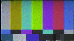 Color Bars with retro static vhs effect - in 4K Stock Footage