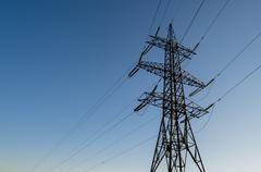 A Steel Transmission Tower Stock Photos