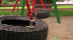 Swings at a playground, Stockholm, Sweden. Stock Footage