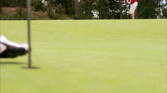 A woman playing golf, Sweden. Stock Footage