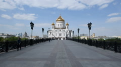 Cathedral of Christ the Savior in Moscow Stock Footage