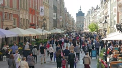 Gdansk, Poland - the old town. Stock Footage