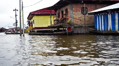 Belen Neighborhood in Iquitos, Peru - stock footage