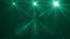 light flashes 4K green - stock footage