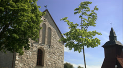 A stone church, Sweden. Stock Footage