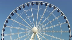 Ferris wheel. Observation wheel - close up shot Stock Footage