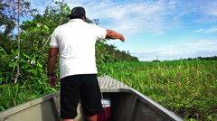 Clearing a path for a Boat - stock footage