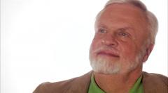 A pleased elderly scandinavian man, Sweden. - stock footage