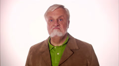 An angry elderly scandinavian man, Sweden. Stock Footage