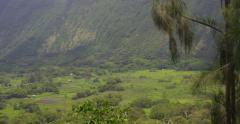 Big Island Hawaii, Tropical Weather, Waipio Mountains and Valley, Kohala Coast Stock Footage