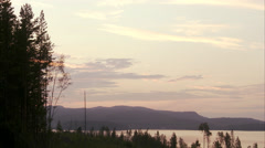 Sunset at Hoga Kusten, Sweden. - stock footage