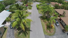 Suburban homes in Miami from above Stock Footage