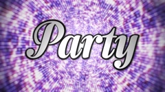 Party 3D Text, Loop, 4k Stock Footage