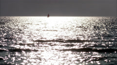 A sailing boat on the sea, Sweden. Stock Footage