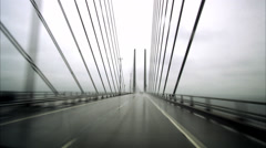 A car driving on a bridge, Oresundsbron, Sweden. Stock Footage