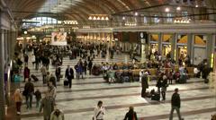 Stockholm central station, Stockholm, Sweden. Stock Footage