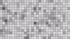 Grey Mosaic random moving Stock Footage