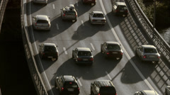 Traffic in the street, Stockholm, Sweden. Stock Footage