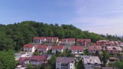 AERIAL: Luxury suburban houses on a hill in prestige neighborhood Stock Footage