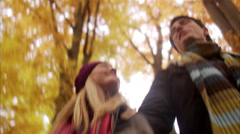 A couple going on a walk, Sweden. Stock Footage