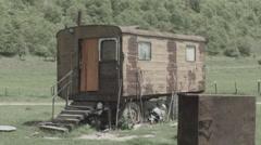 Gypsy Caravan in Romania Wide -Cine Gamma- Stock Footage