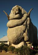 The Big Merino (sheep, Ram) monument in Goulburn, Australia - stock photo