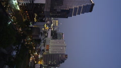 High Rising Buildings of the Silom Business District early Evening Stock Footage