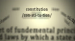 Definition: Constitution Stock Footage