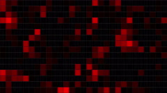 Mosaic random moving, black and red Stock Footage