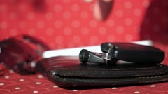 Set of Wallet, Keys, Sunglasses and Phone Stock Footage