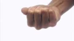 Pills in a hand, close-up. Stock Footage