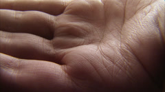 Pills in a palm, close-up. Stock Footage