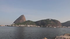 Stock Video Footage of View of Rio de Janeiro city and Sugarloaf Mountain
