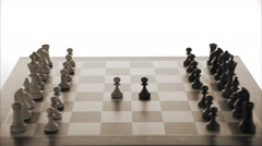 Chessmen on a chessboard. Stock Footage
