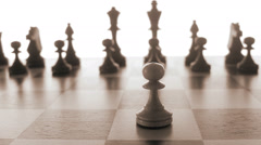 Chessmen on a chessboard, Sweden. Stock Footage