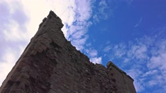 Castle wall blue sky clouds time lapse 2 Stock Footage