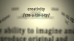 Definition: Creativity Stock Footage