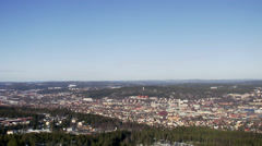 View of Sundsvall, Medelpad, Sweden. Stock Footage