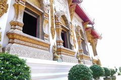 Architecture of buddhist church in temple Stock Photos