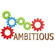 Ambitious gear - stock illustration