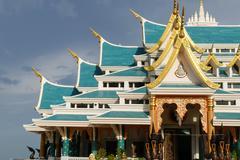 Beautiful architecture of buddhist church Stock Photos