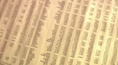 A dice on a newspaper showing the stock-exchange rate. Stock Footage