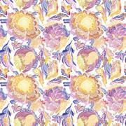 Paradise Floral Motif Vector Texture Stock Illustration